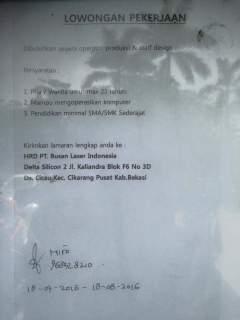 PT. Busan Laser Indonesia Bekasi